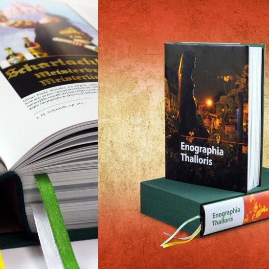 Wydrukowana książka w oprawie twardej, obwolucie i kartonowym etui - drukarnia