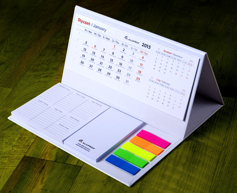 kalendarz i organizer biurkowy