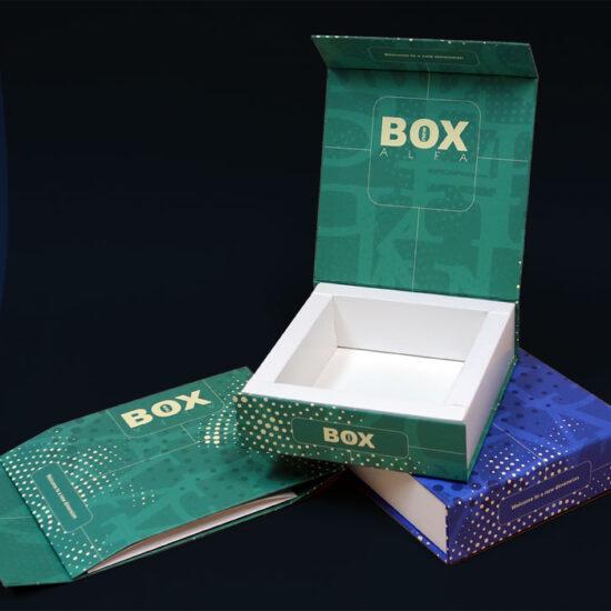 pudełko w oprawie twardej na zamówienie