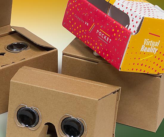 Gogle VR Cardboardy Stereoskopy